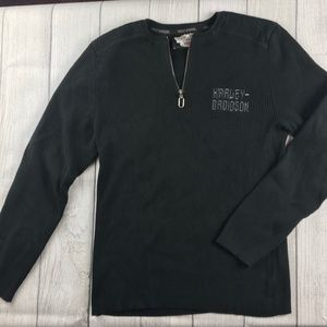 Harley Davidson long sleeve black cotton sweater M